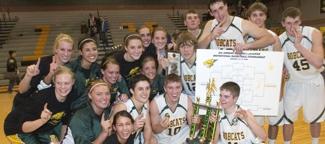 The Basehor Linwood boys and girls basketball teams both won first place in the 2008 Bobcat Invitational Basketball Tournament.
