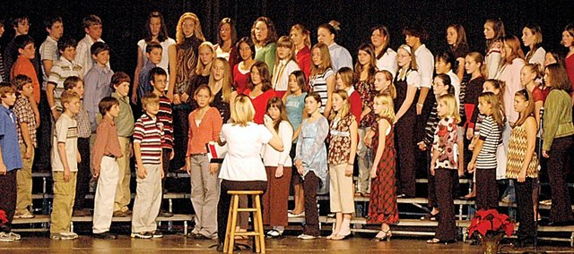 Baldwin Junior High School seventh graders performed their annual Christmas concert in December. The BJHS auditorium has many problems that were addressed by the Baldwin High School and BJHS fine arts teachers at the Jan. 14 Board of Education meeting.