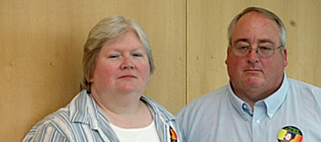 Denise and Dennis Bixby, Tonganoxie, are pushing for changes in the state's vehicular homicide law. Their daughter, Amanda, was killed in a wreck on Feb. 14, 2007.
