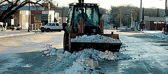 Baldwin City crews have battled the snow and ice on High Street throughout this long winter.