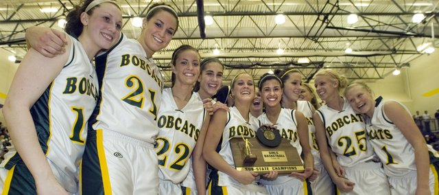 The Basehor-Linwood  girls basketball team won the sub-state championship 4A game Saturday after defeating Eudora 62-44. The Bobcats now will advance to state tournament in Salina this week.