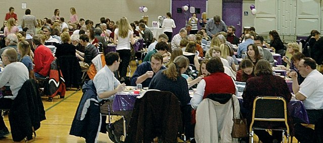 There was a full house for Monday night's Baldwin High School Honors Banquet in the BHS gym.