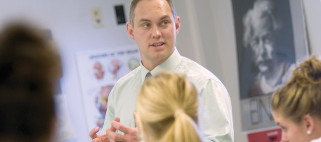 Mill Valley High School science teacher Eric Thomas was named the De Soto USD 232 secondary school candidate for Kansas Teacher of the Year.