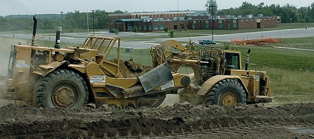 Dirt movers leveled ground south of the Baldwin Elementary School Intermediate Center in the summer of 2006. The work was done to prepare the ground, which is hoped to be the future home of baseball and softball fields.