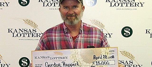 Baldwin City resident Gordon Ruppert recently won $25,000 from a Kansas Lottery ticket.