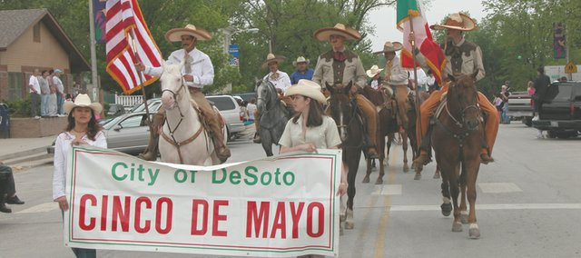 After a one-year absence, the Cinco de Mayo festivities are returning to De Soto. Saturday's events will start with an 11 a.m. parade from Miller Park west on 83rd Street and Penner Avenue to De Soto VFW Post 6654, where the celebration will continue until 7 p.m.