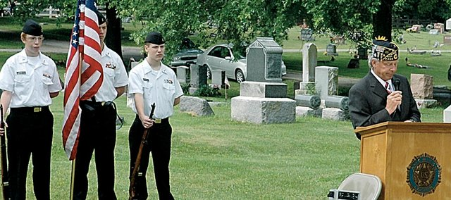 Oakwood Cemetery is the site of the annual Memorial Day service. Chances are good that the city of Baldwin City will take over ownership of Oakwood next year.