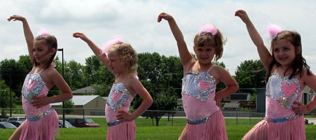 These young dancers were part of the entertainment at Dairy Days.