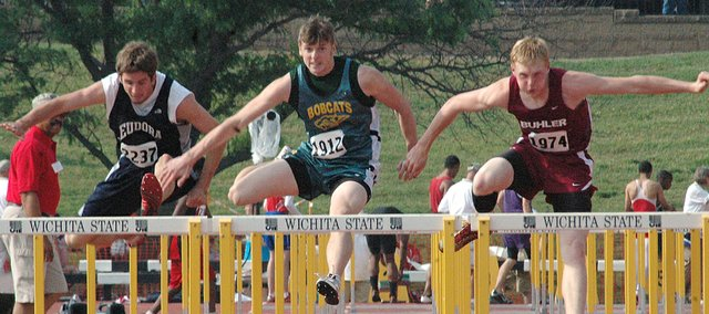 Basehor-Linwood senior Scott Ogilvie advanced to the finals in the 110-meter hurdles on Friday at the Class 4A state track meet.