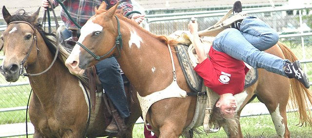 Mackenzie Williams, a Lexington Trails Middle School student, took part in the 18th Annual 2008 Rodeo Bible Camp. The event culminated with a rodeo, and Williams took a first place prize in trick riding.