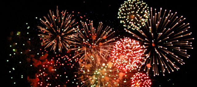 Fireworks lit up the sky Saturday over Tonganoxie. The fireworks display was held to celebrate the open house for Tonganoxie Water Park. In addition, the city celebrated the 23rd annual Tonganoxie Days on Saturday throughout the community.