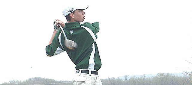 Sophomore Alex Crall was De Soto's number one golfer this year. He missed a state tournament berth by four strokes.