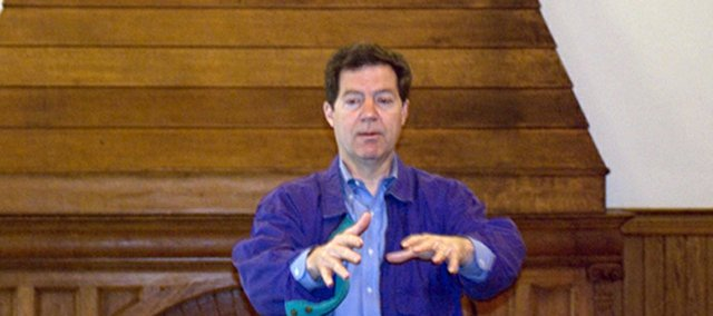 U.S. Sen. Sam Brownback, who spoke earlier this year in Leavenworth, announced Thursday the Senate Appropriations Committee had recommended approval of $12 million in funding for a site selection study for a new federal prison in Leavenworth.