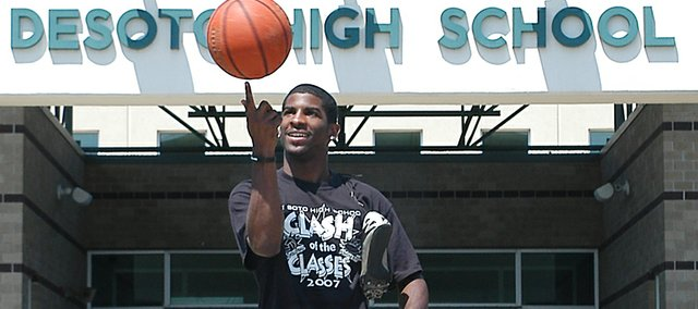 De Soto graduate Andre Linzy is the recipient of The De Soto Explorer's 2008 Male Athlete of the Year award. Linzy averaged 18 points per game in basketball, then took home two silver medals and a gold at the state track meet.