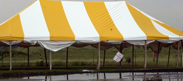 The tent for Faith Builders International's stand at 9180 Lexington Ave. will be one of three offering fireworks this July 4 holiday in De Soto.