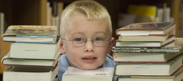Blake Phillips, who will turn 7 on Tuesday, read 700 books as a first-grader at Tonganoxie elementary School during the  2007-08 school year.