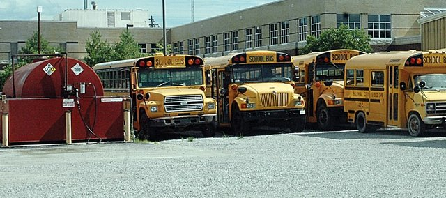 Baldwin School District Supt. Paul Dorathy is contemplating changes in how the district's fleet of buses are used in wake of spiraling fuel costs. Smaller buses and SUV's may be the answer, he said.