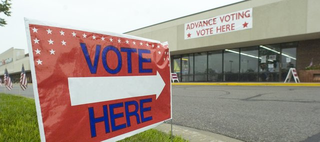 The Shawnee advance voting site is located at the Ten Quivira Plaza Shops.