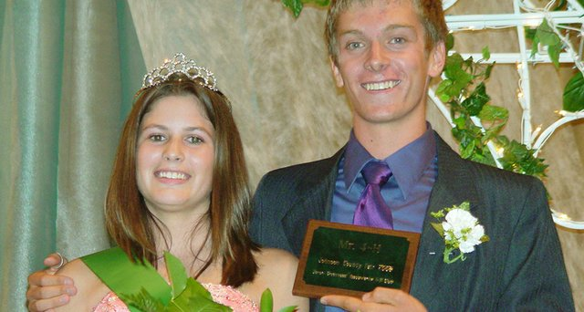 Breanna Sigman, 18, of De Soto, will promote 4-H this year as Miss Johnson County 4-H. She is pictured above with Mr. Johnson County 4-H Ian Burrow, 15, of Overland Park.