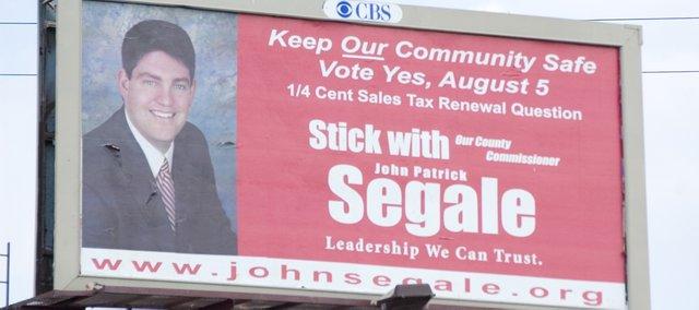 John Segale's billboard in Merriam.