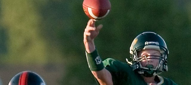 Quarterback Brandon Leppke and his Basehor-Linwood teammates hope to advance well into the state football playoffs this fall.