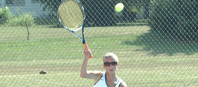Senior Kara Doherty got off to a strong start Thursday, going 2-1 at Topeka Hayden. The match she dropped was to Chelsi Haefele, a top-10 finisher in 4A last year.