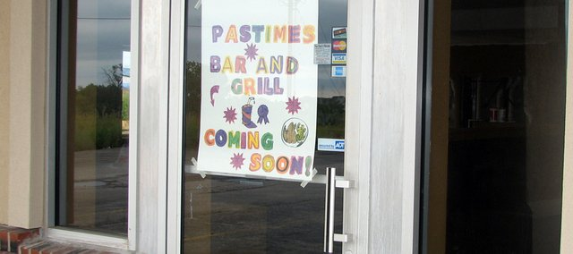 Pastimes Grill and Bar will open its doors in Basehor within the next two months.