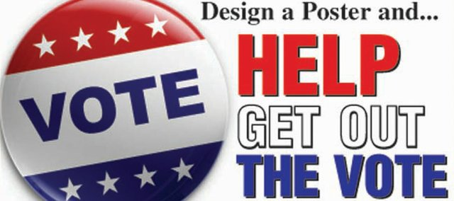 It's time to get out the vote with a poster contest sponsored by Heritage Tractor and the Baldwin City Signal.