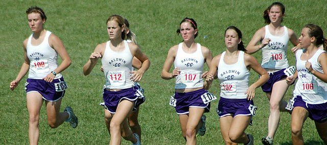 Baldwin High School's girls' varsity cross country team placed 10th in the Gold Division at the Rim Rock Classic, even without top-three runner on the team, senior Corinna Papps.