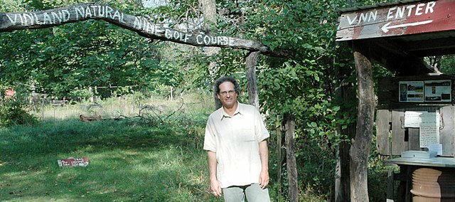 Richard Morantz's Vinland Natural Nine golf course north of Baldwin City is far from the fancy country club life, but he is hosting a one-club tournament Sunday afternoon on his all-natural nine-hole course.