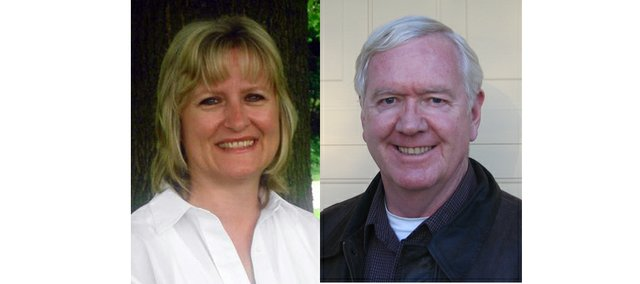 Kelly Kultala, left, a Kansas City, Kan., Democrat, and Steve Fitzgerald, right, a Leavenworth Republican, are seeking the Kansas 5th District Senate seat.