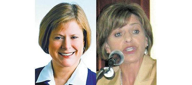 Nancy Boyda, left, and Lynn Jenkins, right, are vying for the 2nd District congressional seat.