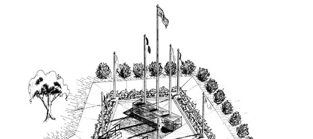 An artist's rendering of the Lansing Veterans Memorial.