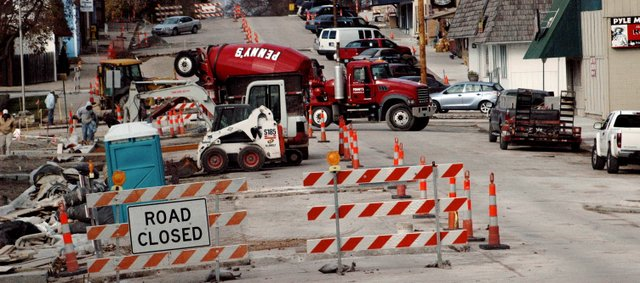 Construction for the downtown beautification project moved last week from the east side of Main Street to the west side. City officials hope Main Street can be repaved sometime before Christmas.