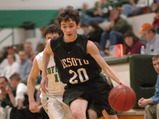 Brendon Hudson scored nine points in De Soto's opening round 60-41 win over Hays at the Hays City Shootout. Hudson then hit three three-pointers against Newton and De Soto cruised to a 60-46 win. The Wildcats lost in the championship match, 64-47, to Great Bend.