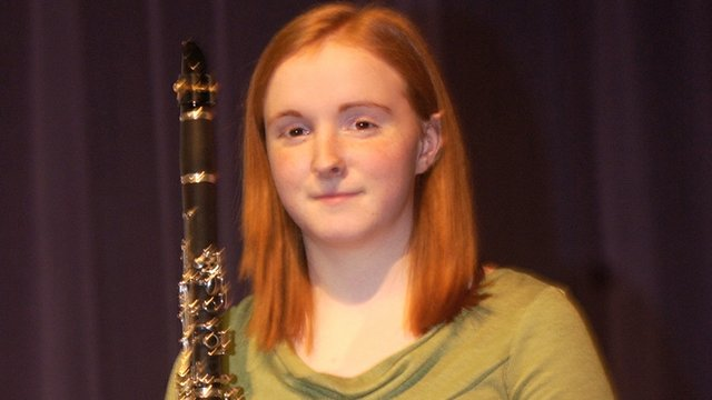 Katie McKeirnan is one of four finalist vying for the opportunity to play with the U.S. Air Force Band. The De Soto High School sophomore will travel to Washington, D.C., early next month to audition for the seat on the band.