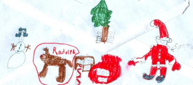 Tonganoxie Childrens' letters to Santa.