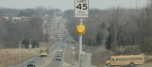 A new school zone will slow motorists down to 45 mph before and after school on U.S. Highway 56 north of Baldwin Elementary School Intermediate Center.