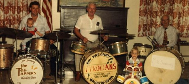 Mike Sweeney, right, grandfather of Edwardsville resident Tim Kelly, plays drums with Kelly's cousin, Joe Sweeney, left, and Kelly's uncle, Ray Sweeney in 1980.
