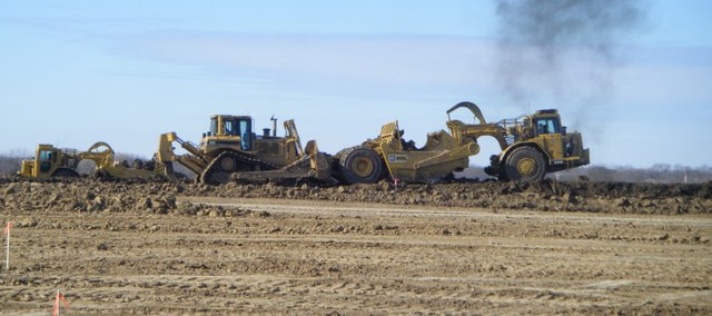 Construction for the new Basehor-Linwood middle school is moving ahead of schedule. Miles Excavating began work in January at the site across 158th Street from Glenwood Ridge Elementary School.