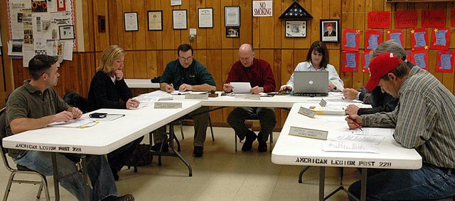 The Baldwin City Council tabled its discussion of vehicle purchases on Tuesday night's meeting.