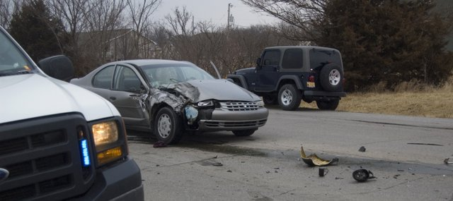 A vehicle sustained extensive damage during an accident about 5 p.m. Thursday at 12th Street and U.S. Highway 24-40 in Tonganoxie. One person was taken to a local hospital after the two-vehicle accident.