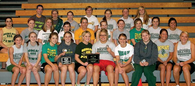 The Basehor-Linwood girls powerlifting team captured its second straight Class 4A state championship Saturday at BLHS. It also marked the 12th consecutive meet victory for the Bobcats. Eight different lifters won individual state championships in addition to the team's overall success.