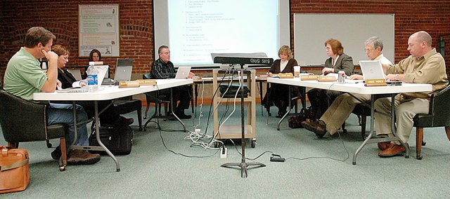 The Baldwin Board of Education discussed the 2009-2010 budget at Monday night's meeting.