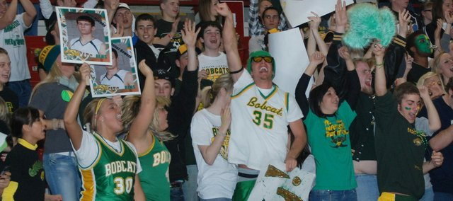 The BLHS student section was fired up as the Bobcats extended their lead in the second half.