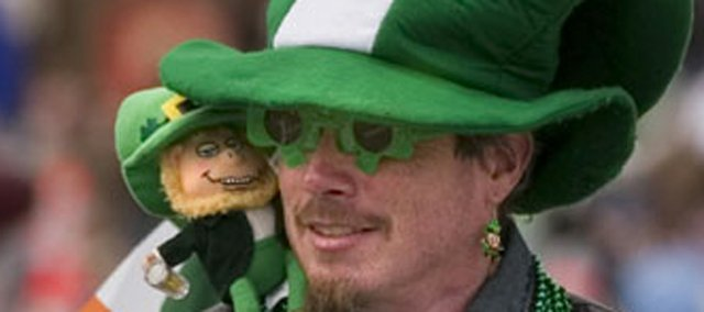 Motorcycle riders and leprechauns were some of the sights at the 2007 parade.