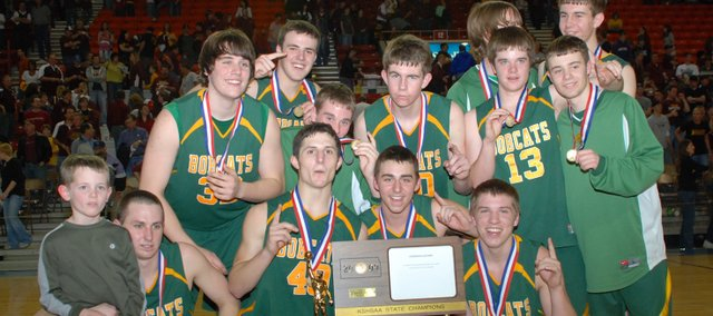 The Basehor-Linwood boys are the 2009 Class 4A state champions.