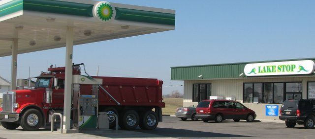 The BP gas station and convenience store located at the intersection of Kansas Highway 32 and 158th Street is once again operating. Abrar Amjad, one of the store's employees, said business had been going well lately.