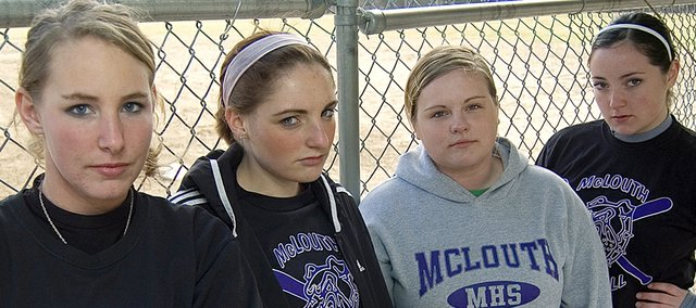 McLouth High softball seniors Amanda Friesz, Kendall Patterson, Deanna Durkes and Lezley Lawson feel tougher than ever headed into the 2009 season after some gritty practices in the preseason.