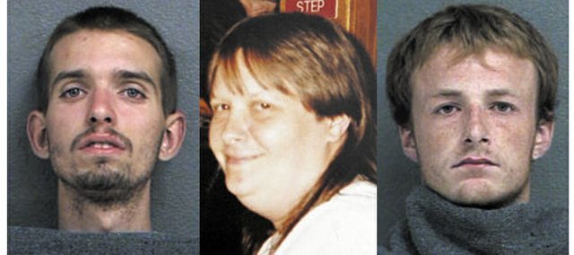 Robert Haberlein, 20, of Kansas City, Kan., left, and John Backus, 21, of Bonner Springs, right, were sentenced Thursday to life in prison for their parts in the November 2005 murder of Robin Bell, center, at the Dollar General Store in Bonner Springs.